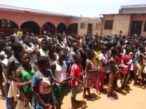 Assembly at the Elmina School