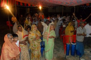 Crusade with Pastor Alex in Anuru village in South India