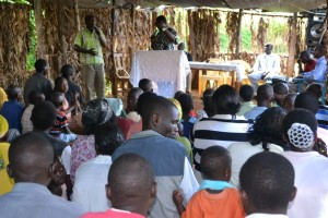 Pastor Alex ministering in a church in a village nearby the town of Kisii, 400 km away from Nairobi
