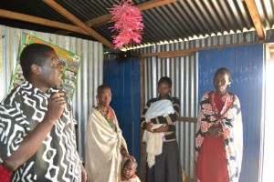 Pastor Alex ministering to the neglected Kenyan Maasai tribe